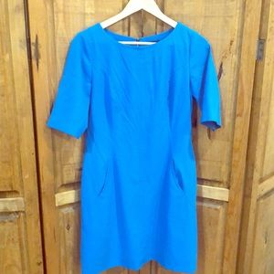 Turquoise blue Tahari dress with pockets